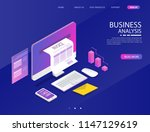 accounting system. there are... | Shutterstock .eps vector #1147129619
