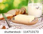 Butter On Wooden Holder...