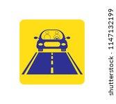 vector icon of luxury car run... | Shutterstock .eps vector #1147132199