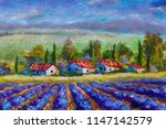 landscape of italian tuscany  ... | Shutterstock . vector #1147142579