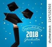 congratulations graduation card | Shutterstock .eps vector #1147152503