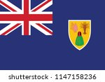 turks and caicos islands flag... | Shutterstock .eps vector #1147158236