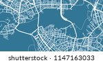 detailed vector map of kazan ... | Shutterstock .eps vector #1147163033