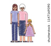 mom grandmother and daughter... | Shutterstock .eps vector #1147169390