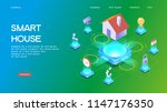smart home control concept.... | Shutterstock .eps vector #1147176350