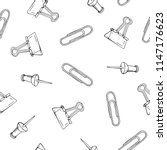 stationery  clips  paper clips  ...   Shutterstock .eps vector #1147176623