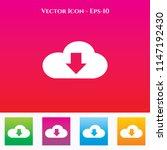 download icon in colored square ...
