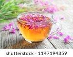 fireweed healthy herbal tea.... | Shutterstock . vector #1147194359