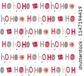 seamless background  with ho ho ... | Shutterstock .eps vector #1147194419