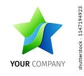 five point star logo design... | Shutterstock .eps vector #1147194923