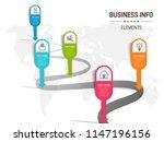 unique infographics template   Shutterstock .eps vector #1147196156