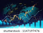 stock market or forex trading... | Shutterstock . vector #1147197476