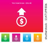 dollar up icon in colored... | Shutterstock .eps vector #1147199306