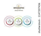business timeline infographics | Shutterstock .eps vector #1147207436