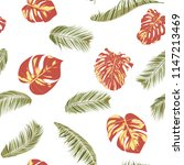 summer exotic floral tropical... | Shutterstock .eps vector #1147213469
