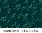 eucalyptus vector seamless... | Shutterstock .eps vector #1147213553