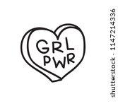 grl pwr short quote. girl power ... | Shutterstock .eps vector #1147214336