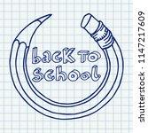 hand drawn vector doodle back... | Shutterstock .eps vector #1147217609