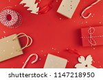 new year christmas presents... | Shutterstock . vector #1147218950