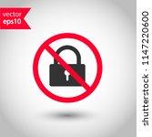 forbidden lock icon. do not...   Shutterstock .eps vector #1147220600