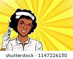 beautiful african american...   Shutterstock .eps vector #1147226150