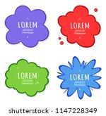 vector speech bubble background ... | Shutterstock .eps vector #1147228349