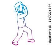 degraded line funny... | Shutterstock .eps vector #1147236899
