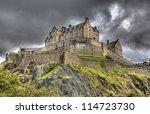 Edinburgh Castle On Castle Roc...
