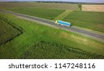 aerial top view of truck with... | Shutterstock . vector #1147248116