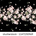 Stock photo pink roses pattern 1147250969