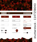 dark red vector design ui kit...