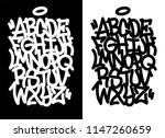 handwritten graffiti font... | Shutterstock .eps vector #1147260659
