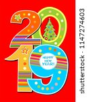 2019 happy new year background... | Shutterstock . vector #1147274603
