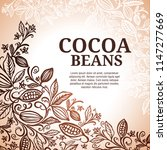 cacao beans plant  vector... | Shutterstock .eps vector #1147277669