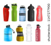 set of realistic sports water... | Shutterstock .eps vector #1147277900