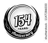 154 years anniversary.... | Shutterstock .eps vector #1147286033