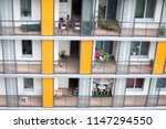 Balconies From A Block Of Flat...