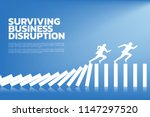 surviving business disruption.... | Shutterstock .eps vector #1147297520
