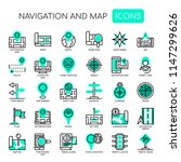 navigation   map   thin line...   Shutterstock .eps vector #1147299626