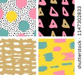 trendy vector seamless colorful ... | Shutterstock .eps vector #1147302833