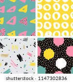 trendy vector seamless colorful ... | Shutterstock .eps vector #1147302836