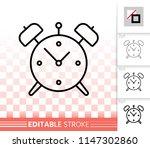 alarm clock thin line icon.... | Shutterstock .eps vector #1147302860