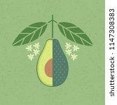 avocado illustration. cut... | Shutterstock .eps vector #1147308383
