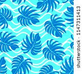 palm. pattern from tropical...   Shutterstock .eps vector #1147311413