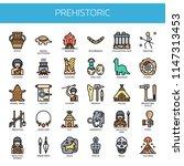 prehistoric elements   thin... | Shutterstock .eps vector #1147313453