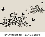 Vector Blossom Branches With...