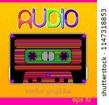 stylized audio cassette... | Shutterstock .eps vector #1147318853