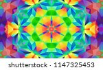 abstract colorful symmetric... | Shutterstock . vector #1147325453
