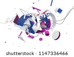 abstract stylish 3d composition ... | Shutterstock . vector #1147336466