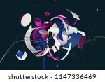 abstract stylish 3d composition ... | Shutterstock . vector #1147336469